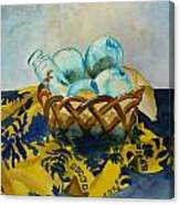 Basket Of Floats Canvas Print