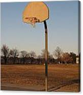 Basketball Goal At Sandy Point Canvas Print