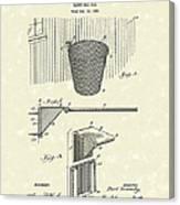 Basketball Hoop 1925 Patent Art Canvas Print