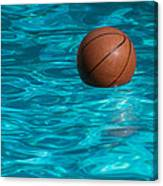 Basketball In The Pool  Canvas Print