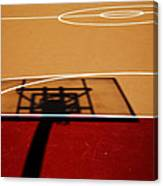Basketball Shadows Canvas Print