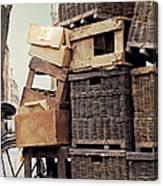 Baskets In Paris Canvas Print