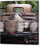 Baskets Of Feed Canvas Print