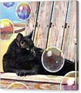 Basking In Bubbles Canvas Print