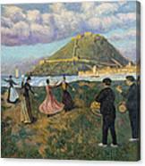 Basque Celebration. Dance At El Antiguo San Sebastian Canvas Print