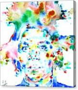 Basquiat Jean Michel Watercolor Portrait Canvas Print