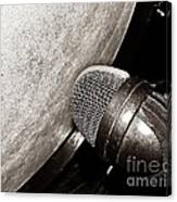 Bass Drum And Mic Canvas Print