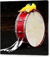 Bass Drum At Parade Canvas Print
