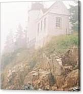 Bass Harbor In Fog - Vertical Canvas Print