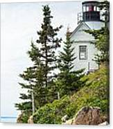 Bass Harbor Light Station Overlooking The Bay Canvas Print
