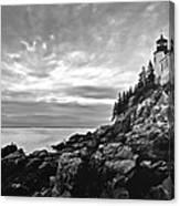 Bass Harbor Lighthouse At Dusk Canvas Print