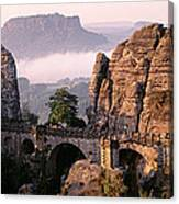 Bastei, Saxonian Switzerland National Canvas Print