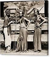 Batak Warriors In Indonesia 1870 Canvas Print