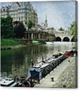 Bath Canal Canvas Print
