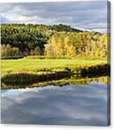 Bath Nh Autumn Panorama Canvas Print