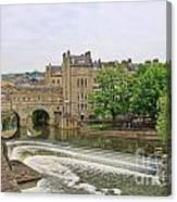 Bath On River Avon 8482 Canvas Print