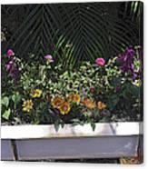 Bath Tub Flowers Canvas Print
