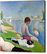 Bathers In Asnieres Canvas Print
