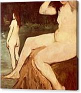 Bathers On Seine Canvas Print