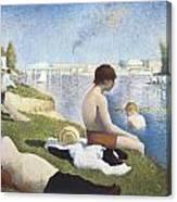 Bathing At Asnieres Canvas Print
