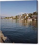 Bathing At Lake Atitlan Canvas Print