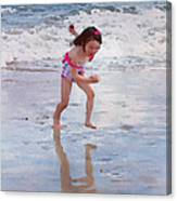 Bathing Beauty Running Canvas Print