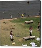 Bathing Ghats Canvas Print