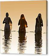 Bathing In The Holy River 2 Canvas Print
