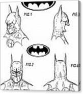 Batman Face Guard Canvas Print