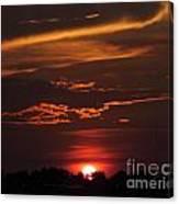Baton Rouge Sizzling Sunday Sunset  Canvas Print