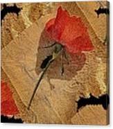 Bats And Roses Canvas Print