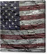 Battered Old Glory Canvas Print