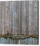Battered Wooden Wall Canvas Print
