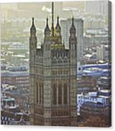 Battersea Power Station And Victoria Tower London Canvas Print