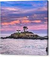 Battery Point Lighthouse And Moon Canvas Print