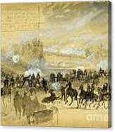 Battle At White Oak Swamp Bridge Canvas Print