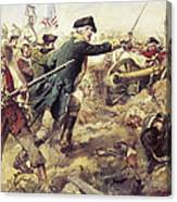 Battle Of Bennington Canvas Print