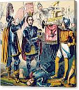 Battle Of Bosworth, Henry Vii Crowning Canvas Print