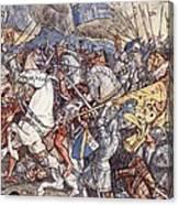 Battle Of Fornovo, Illustration Canvas Print
