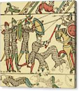 Battle Of Hastings The Battle Rages Canvas Print