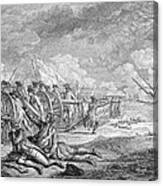 Battle Of Lexington, April 19th 1775, From Recueil Destampes By Nicholas Ponce, Engraved Canvas Print