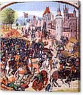 Battle Of Nevilles Cross 1346 Canvas Print