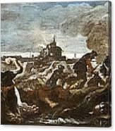 Battle Of Saint-quentin Canvas Print