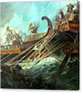Battle Of Salamis, 480 Bce Canvas Print