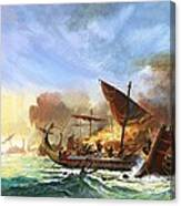 Battle Of Salamis Canvas Print