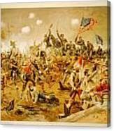 Battle Of Spotsylvania Thure De Thulstrup Canvas Print