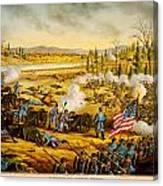 Battle Of Stones River Canvas Print