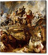 Battle Of The Amazons Canvas Print