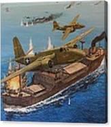 Battle Of The Bismark Sea Canvas Print
