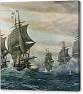 Battle Of Virginia Capes Canvas Print